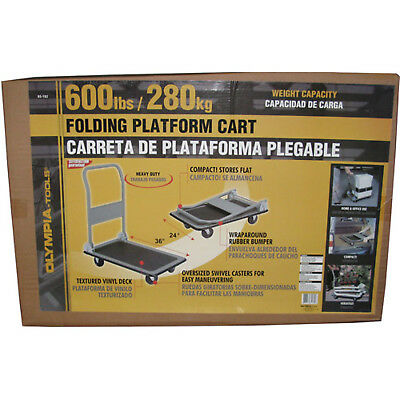 Olympia Tools 600-lb Capacity Heavy Duty Folding Platform Truck, 85-182