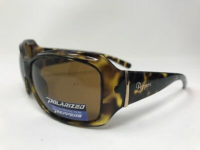 b631e9e317e6 Pepper Womens Molly Sunglasses Polarized 61-14-125 Glossy Tortoise EJ62