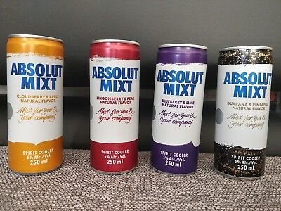 Absolut Mixt Set South Africa 250ml, Very Rare