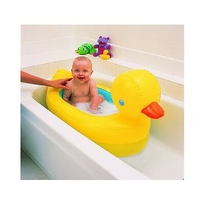Baby Bath Inflatable Duck Tub Kids Safe Shower Home Travel Girls Boy Toddler New