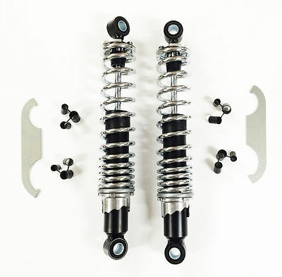 Pair Rear Shock Absorbers 310mm Chrome-plated HONDA CB T 125 78-86