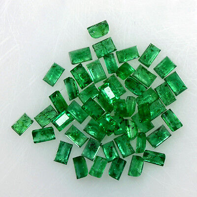 4.16 Cts Natural Rich Green Emerald Loose Gemstone Baguette Cut 50 Pcs Zambia $