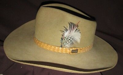 Akubra HAT SNOWY RIVER Classic Imperial Quality Size 54 Australia Made Unused