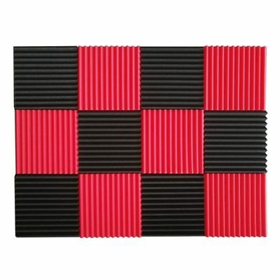 12 Pcs Acoustic Panels Soundproofing Foam Acoustic Tiles Studio Foam Sound D4X3