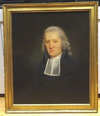 Large 18th Century English Portrait Judge Barrister Lawyer Antique Painting