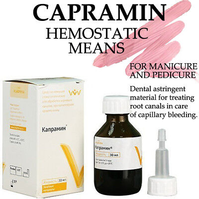 CAPRAMIN Hemostatic bleeding For Manicure / pedicure 30ml BOTTLE dental material