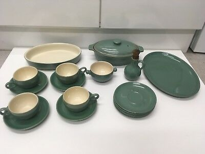 Vintage Denby 'Manor Green' Stoneware.. 18 Items