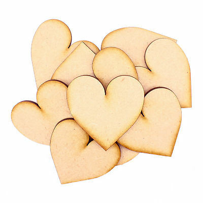 Wooden 3mm MDF Heart shape Craft Blank Tags Embellishments Decoration