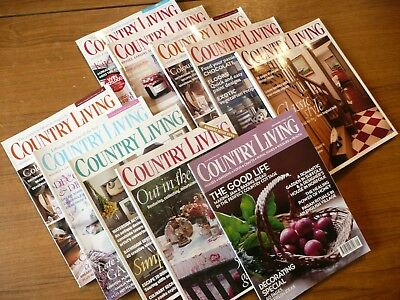 10 x Country Living Magazines