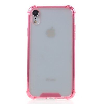 Drop-Proof Clear Acrylic Back + TPU Edges Phone Case Cover for iPhone XR 6.1inch