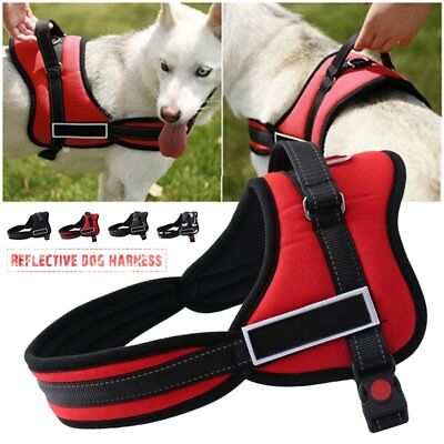 No Pull Pet Reflective Service Dog Harness In Traning Vest For Training Medium