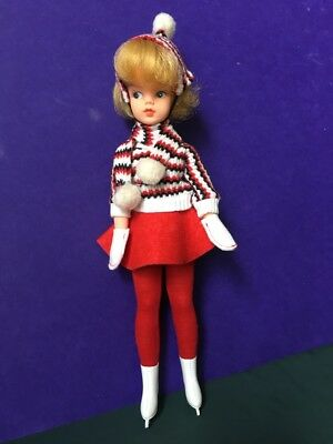 REDUCED Sindy MIE 1963-64 DOLL Ice Skater outfit 1968 complete blonde SHIMMYSHIM