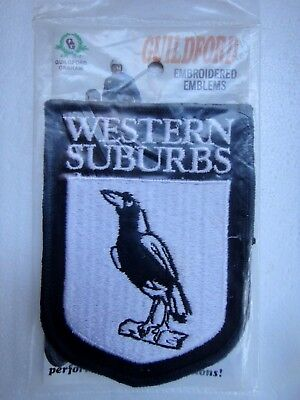 1980 Western Suburbs Magpies Rugby League Jersey Patch...new In Pack...old Stock