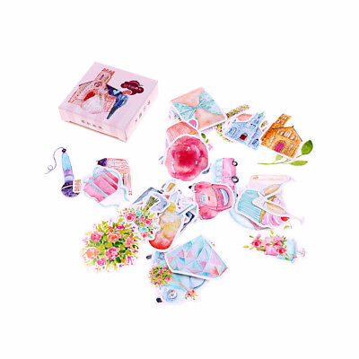 40pcs dream wedding paper sticker diy diary decor for album scrapbooking   X