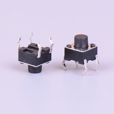 50pcs Micro switch 6*6*6mm 4pin momentary tactile push button switch   X