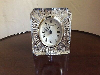 "Crystal Glass Clock 5"" High"