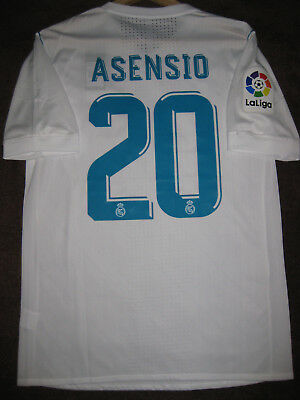 Marco Asensio #20 Real Madrid Camiseta Shirt 2017/18 Player Issue Spain (L)