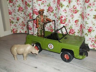 MATTEL BIG JIM  Action Figur + JEEP + NASHORN