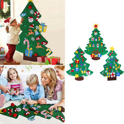Felt Christmas Tree Set with Ornaments Xmas Gift Door Wall Hanging Decorations