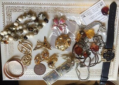 Joblot job lot of mixed vintage and modern costume jewellery # 8