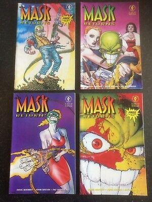 THE MASK RETURNS #1-4 Complete Set + Centrefold Masks -Dark Horse Comics 1993 NM