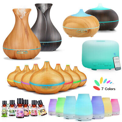 300/550ml Essential Oil Aroma Aromatherapy LED Air Humidifier Purifier Diffuser