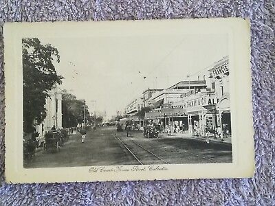 Postcard Old Court House Street Calcutta India Posted 1919
