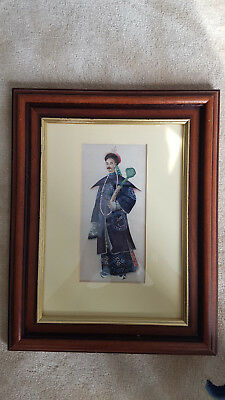 Two Chinese 19th century paintings on pith paper or rice paper. Framed.