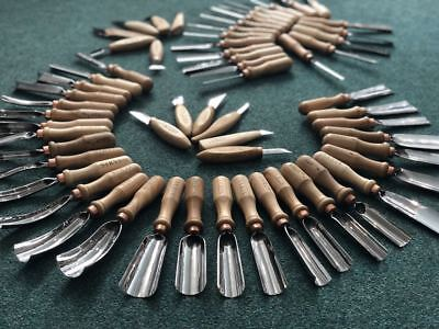 Wood carving tools set 60pcs kit of chisels, gouges, knives, curved tools STRYI