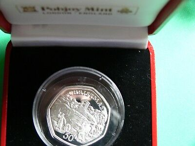 Silver 50p  Coin Christmas 1996 Isle Of Man.