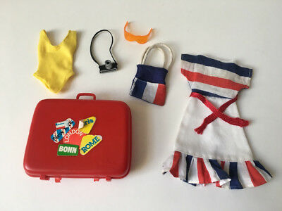 REDUCED Sindy COMPLETE Sunshine Girl set travel case 1978 doll outfit SHIMMYSHIM
