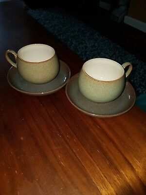 Denby Cups And Saucers X 2 Stoneware
