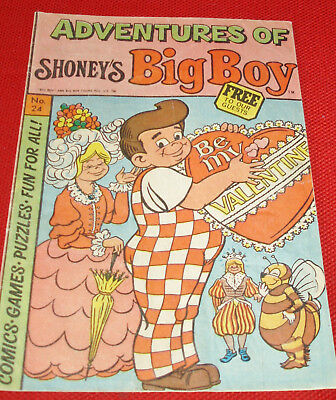Adventures of Shoney's Big Boy Valentine Edition From 1979!!!