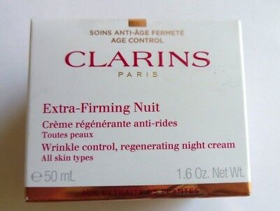Clarins Extra-Firming Nuit Wrinkle Control/Regenerate Night Cream 50ml ALL SKIN