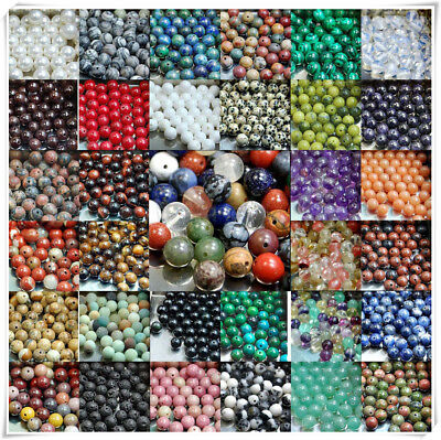 Natural Matte Frosted Gemstone Round Loose Beads 15'' 4mm 6mm 8mm 10mm 12mm #10