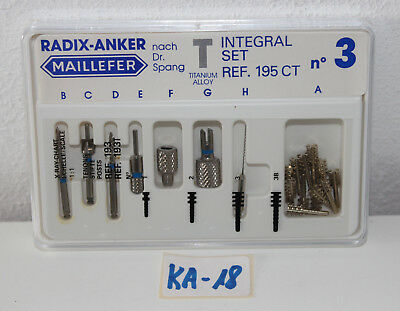 Radix Anker Integral Set Maillefer Set REF. 195CT NEU und OVP Art. Nr. KA-18