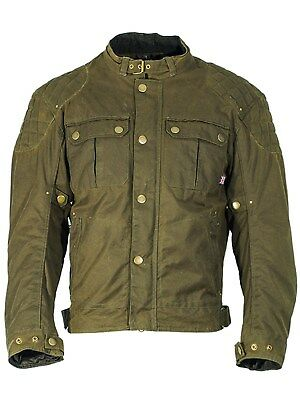 Richa Green Scrambler Motorcycle Waterproof Jacket