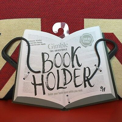 Gimble The Adjustable Book Holder - Urban Grey. Will hold any book open! New