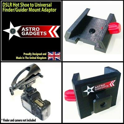 Universal Camera Hot Shoe to Universal Finder/Guider/Red Dot Shoe Adapter