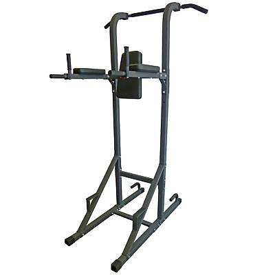 DKN VKR Power Tower with Pull Up and Dip Station - Metallic