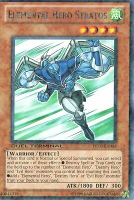 Elemental Hero Stratos - DT03-EN058 - Duel Terminal Rare Parallel Rare EN NM