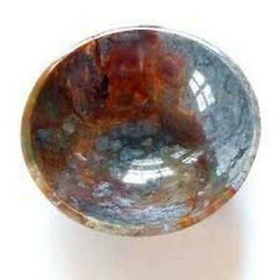 "Jet Fancy Jasper Bowl 2"" Gemstone A+ Hand Carved Rare Crystal Altar Healing"