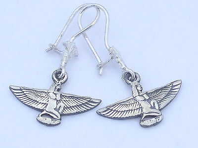 Isis Silver Earrings (Hallmarked)