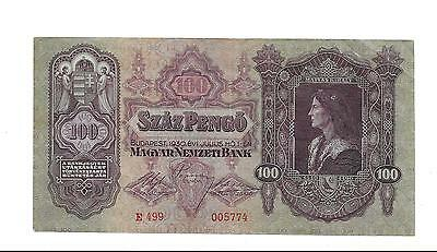 HUNGARY 100 PENGO BANKNOTE from 1930