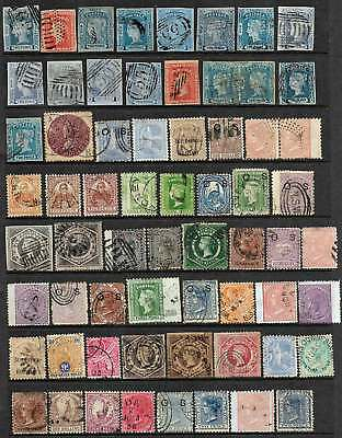 New South Wales: Very Scarce 64 Old Used Stamps, Valuable Group & No Reserve