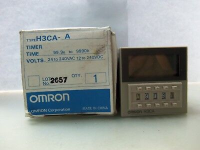 New Omron H3CA-A Solid-state Timer 24-240VAC/VDC NIB