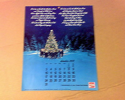 Vintage  Coca Cola Calendar/ I'd Like To Teach the world To Sing 1973