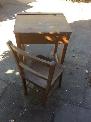 Vintage School Desk With Chair