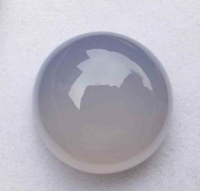 43.00 Cts Natural! Lavender Blue Madagascar Chalcedony Round Cabochon Lot
