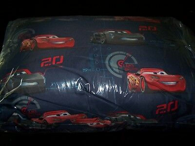 Disney's Cars 3~Pillow & Travel Blanket~Navy~Washable~Great Gift~Both NEW!